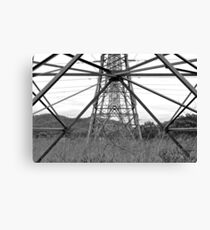 Powerlines Love Canvas Print