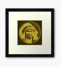 Vintage Native American Chief Framed Print