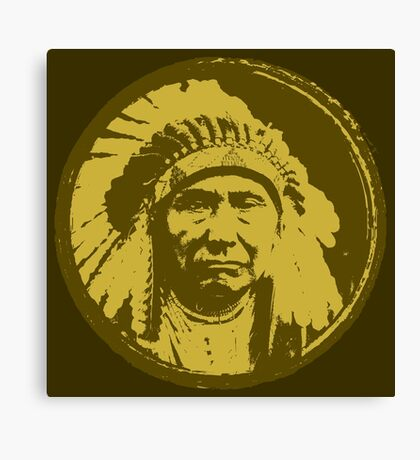 Vintage Native American Chief Canvas Print