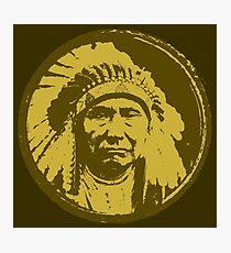 Vintage Native American Chief Photographic Print