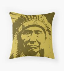 Vintage Native American Chief Throw Pillow
