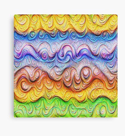 Tropical sea liquid lines and waves #DeepDream Canvas Print