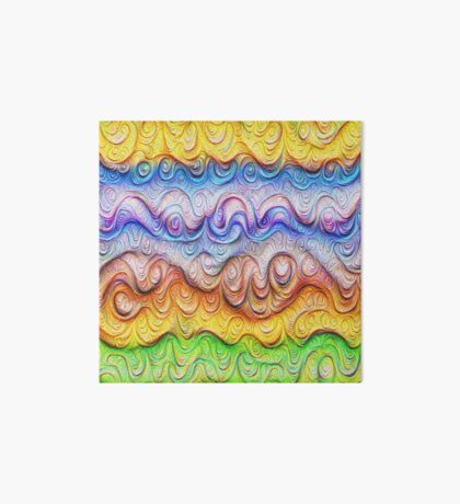 Tropical sea liquid lines and waves #DeepDream Art Board Print