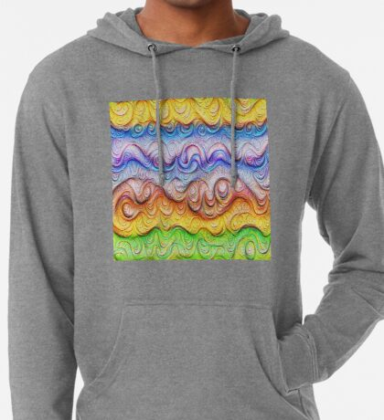 Tropical sea liquid lines and waves #DeepDream Lightweight Hoodie