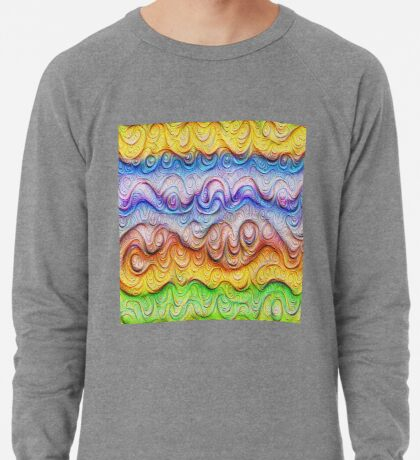 Tropical sea liquid lines and waves #DeepDream Lightweight Sweatshirt