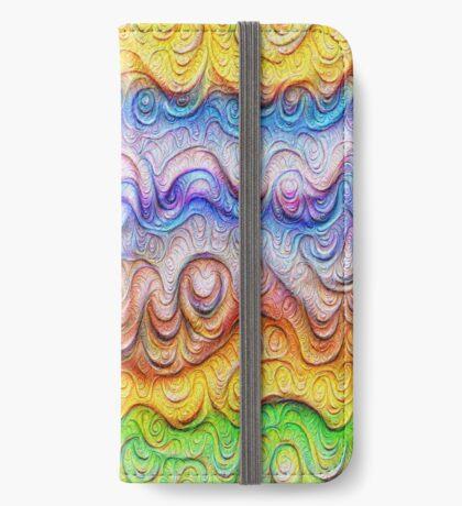 Tropical sea liquid lines and waves #DeepDream iPhone Wallet