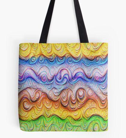 Tropical sea liquid lines and waves #DeepDream Tote Bag