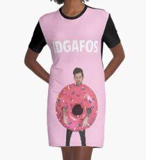 IDGAFOS Graphic T-Shirt Dress