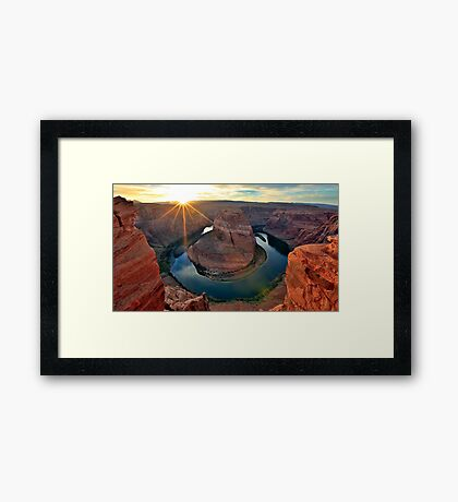 Horsehoe Bend, Page Arizona, Colorado River... Framed Print