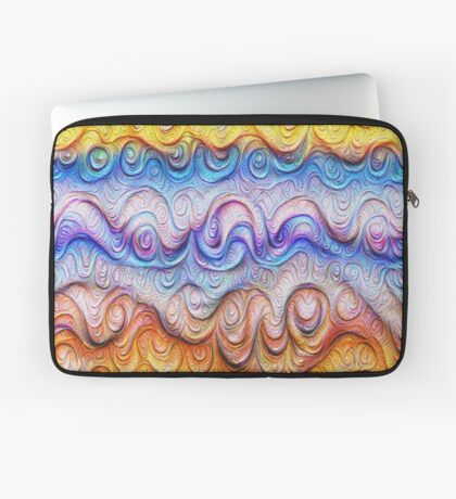 Tropical sea liquid lines and waves #DeepDream Laptop Sleeve