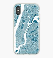 Vinilo o funda para iPhone Mapa de Nueva York