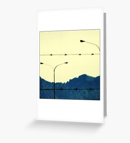 I looked up to the mountains Greeting Card