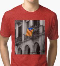 Barcelona - Estelada Tri-blend T-Shirt