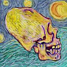 Starry Starry Night Enlongated skulls  Paracas Skull by Gala Gauthier