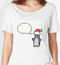 cartoon penguin Women's Relaxed Fit T-Shirt