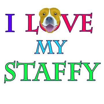 I LOVE MY STAFFY by lana3210
