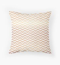 ROSE GOLD FOIL Throw Pillow