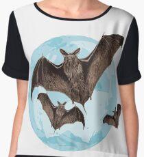 Bats in the full moon Women's Chiffon Top