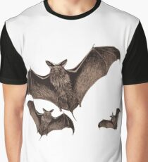 Bats in the full moon Graphic T-Shirt