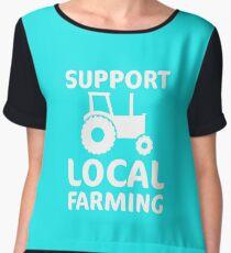 Support Local Farming  Chiffon Top