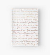 ROSE GOLD WEDDING Hardcover Journal