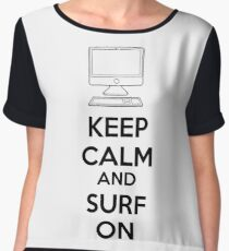 Keep calm and surf on Women's Chiffon Top