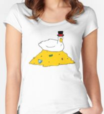 Fabulously Wealthy Duck Women's Fitted Scoop T-Shirt