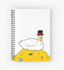 Fabulously Wealthy Duck Spiral Notebook