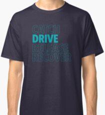 Catch, Drive, Release, Recover (Aqua) Classic T-Shirt