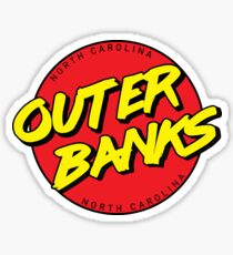 Outer Banks NC Retro Sticker