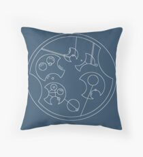 """I Don't Shave For Sherlock Holmes"" Circular Gallifreyan (White) Throw Pillow"