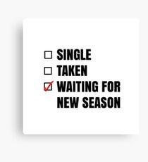 Waiting for New Season Canvas Print