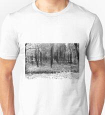 Autumn woods bw Unisex T-Shirt