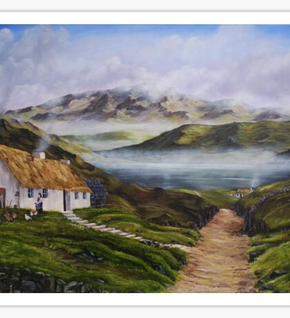 Irish Morning Mist - Oil Painting Sticker