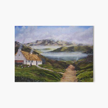 Irish Morning Mist - Oil Painting Art Board Print