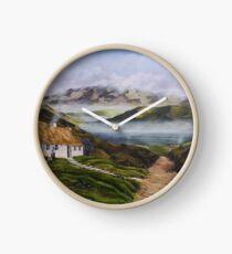 Irish Morning Mist - Oil Painting Clock