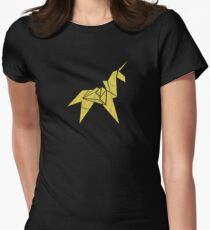 Blade Runner - Paper Unicorn Womens Fitted T-Shirt