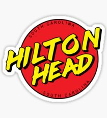 Hilton Head SC Retro Sticker