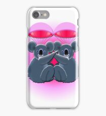 parachuting koalas iPhone Case/Skin