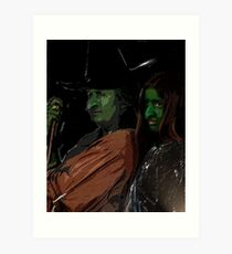 Apprentice and tutor Witch Hazel Art Print
