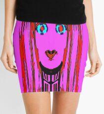 Neckband Pink, by Mickeys Art And Design. Biz Mini Skirt