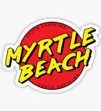 Myrtle Beach SC Retro Sticker