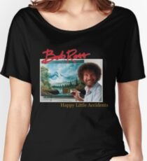 Bob Ross 90s Print Women's Relaxed Fit T-Shirt