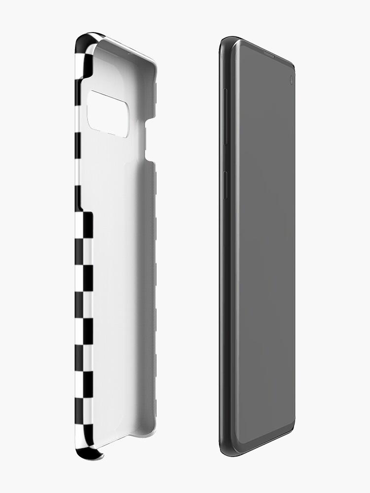 Alternative Ansicht von Schwarzes kariertes Muster Hüllen & Klebefolien für Samsung Galaxy