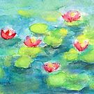 Pond with Water Lilies by CarolineLembke