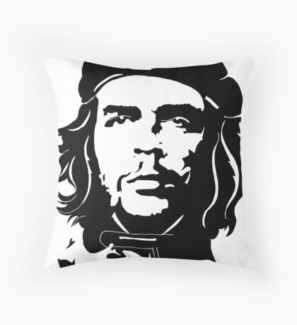 Che Guevara in star beret Throw Pillow