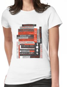 Murakami Book Stack Fanatic (Colour) Womens Fitted T-Shirt