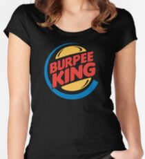 Burpee King Fitness Women's Fitted Scoop T-Shirt