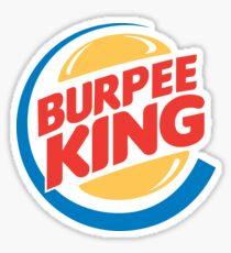Burpee König Fitness Sticker