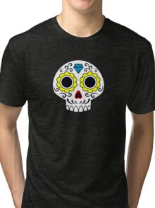 Sugar skull for a cake Tri-blend T-Shirt
